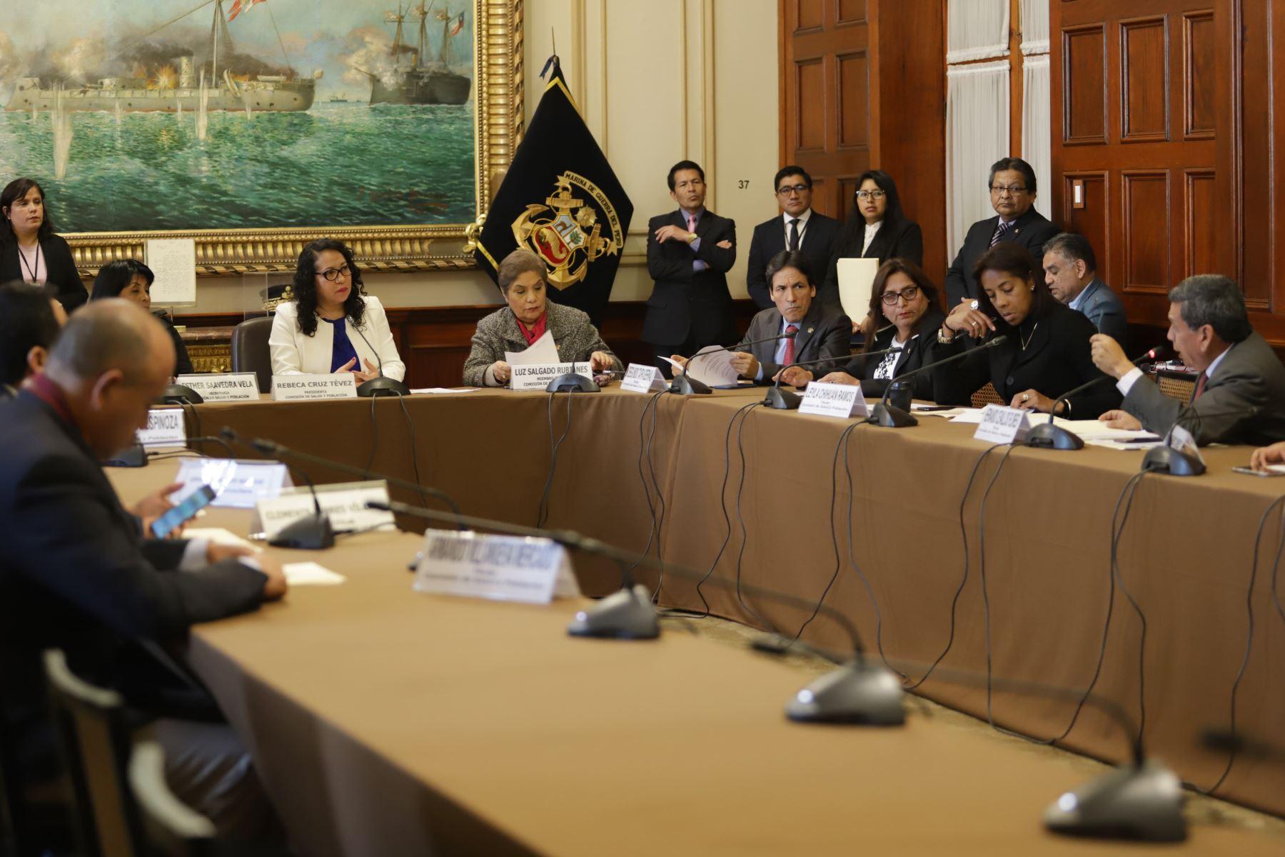 Instalación de la Comisión de Salud, cuya presidencia recae en la congresista Rebeca Cruz Tevez.  Foto: ANDINA/Jorge Tello