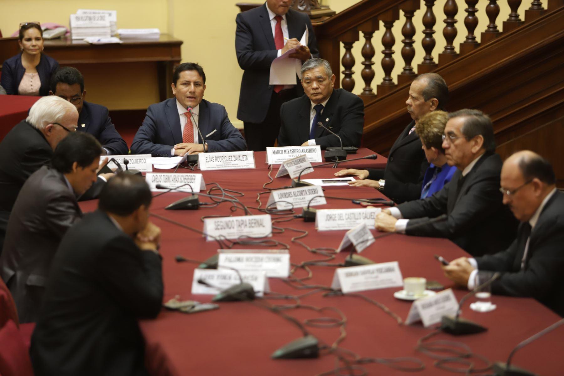 Instalación de la Comisión Defensa Nacional cuya presidencia recae en el  congresista Elias Rodriguez Zavaleta. Foto: ANDINA/Jorge Tello