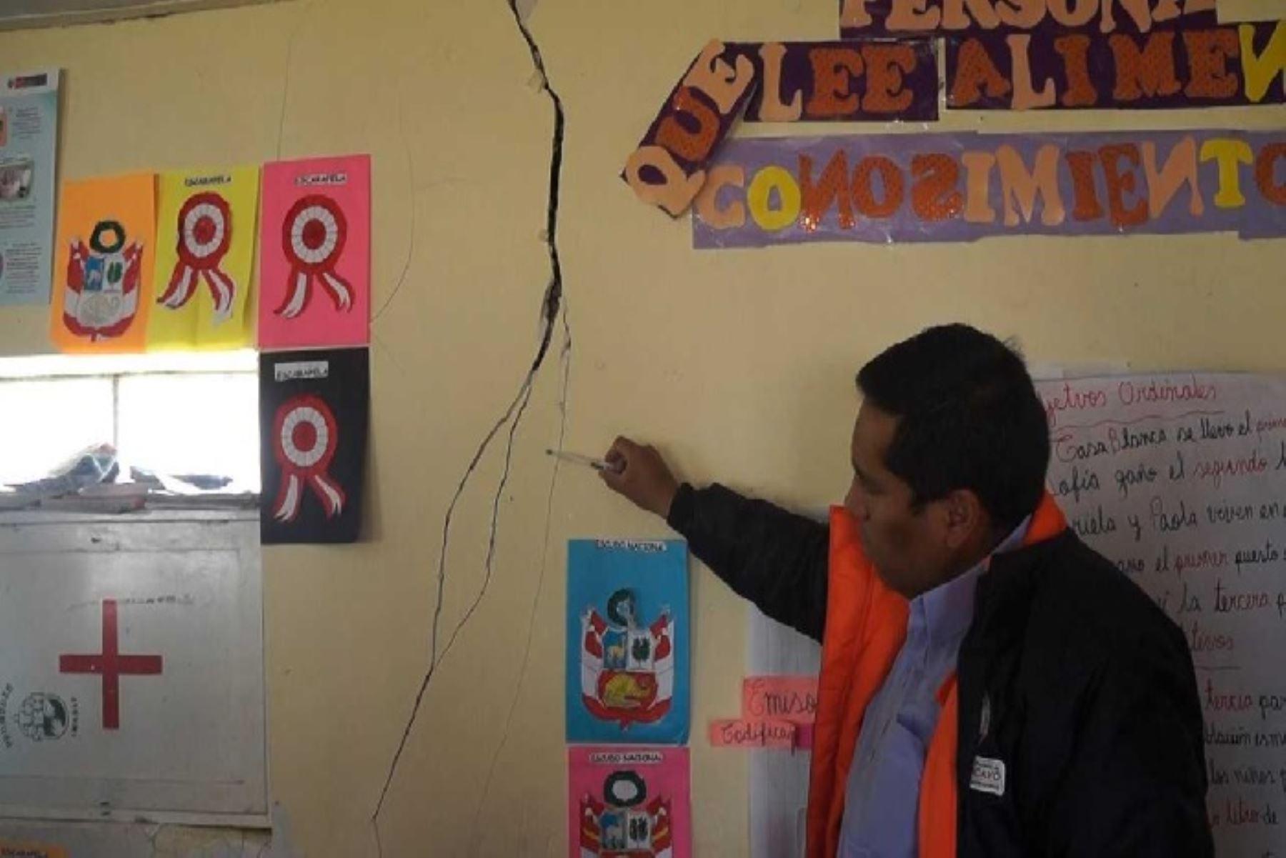 Tras el sismo, personal de Defensa Civil de la Municipalidad Provincial de Huancayo monitorea los 28 distritos huancaínos.