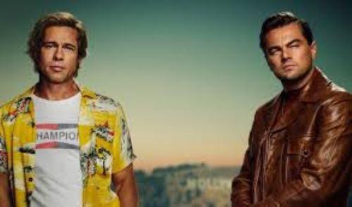 Brad Pitt y Leonardo DiCaprio en Érase una vez en Hollywood.