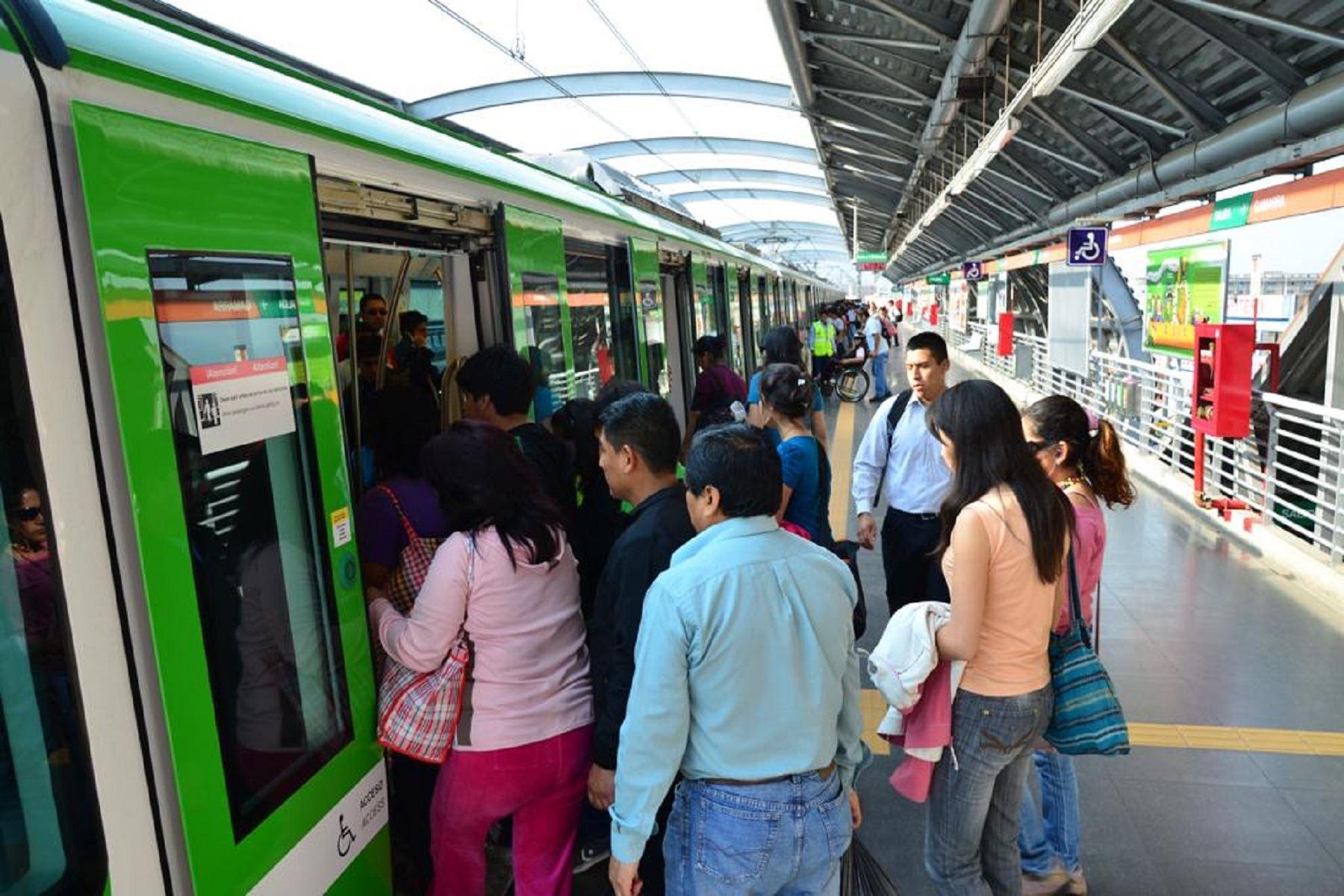 Línea 1 del Metro de Lima Foto: Lima 2019