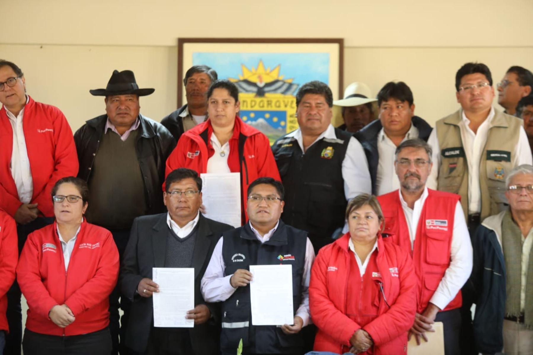 El Gobierno oficializó hoy la creación y conformación de la mesa de diálogo de Candarave, en Tacna. ANDINA/Difusión