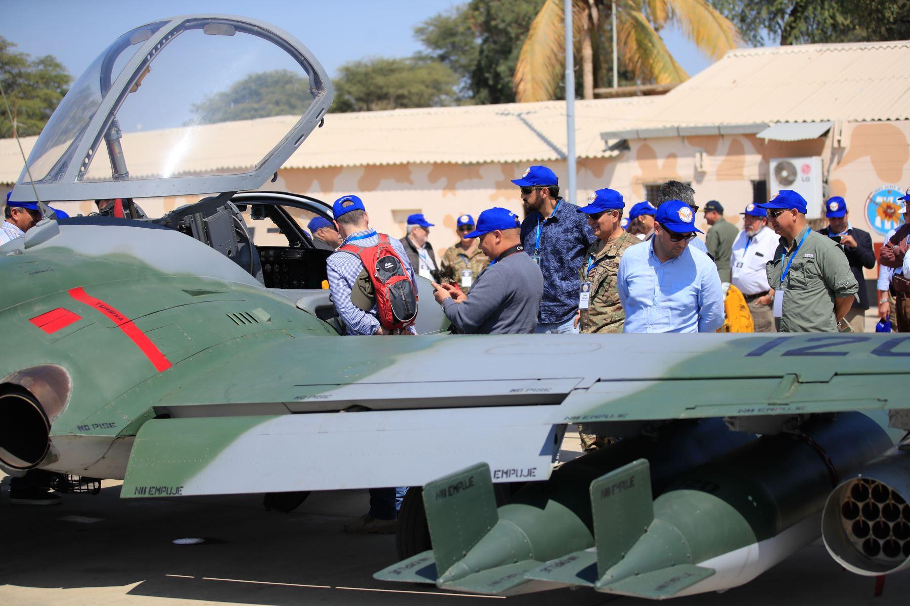 Ejercicios aéreos de la FAP, en el marco del PROGEPAC (programa de gestión estratégica aeroespacial y del ciberespacio) en Piura  Foto: ANDINA/Juan Carlos Guzmán Negrini.