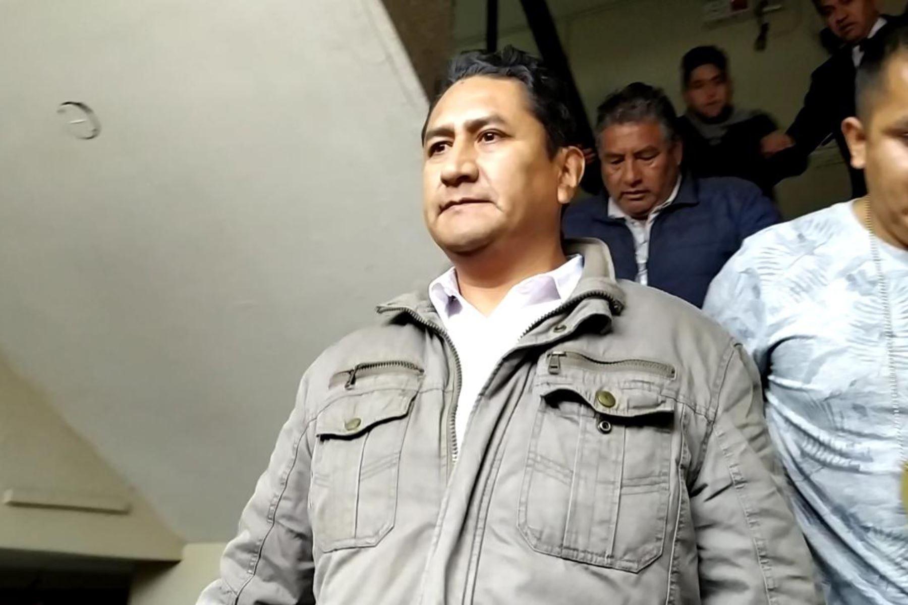 Vladimir Cerrón afrontará proceso en libertad y con pena reducida a 3 años y 9 meses, por disposición de la Sala de Apelaciones de la Corte Superior de Justicia de Junín. ANDINA/Difusión