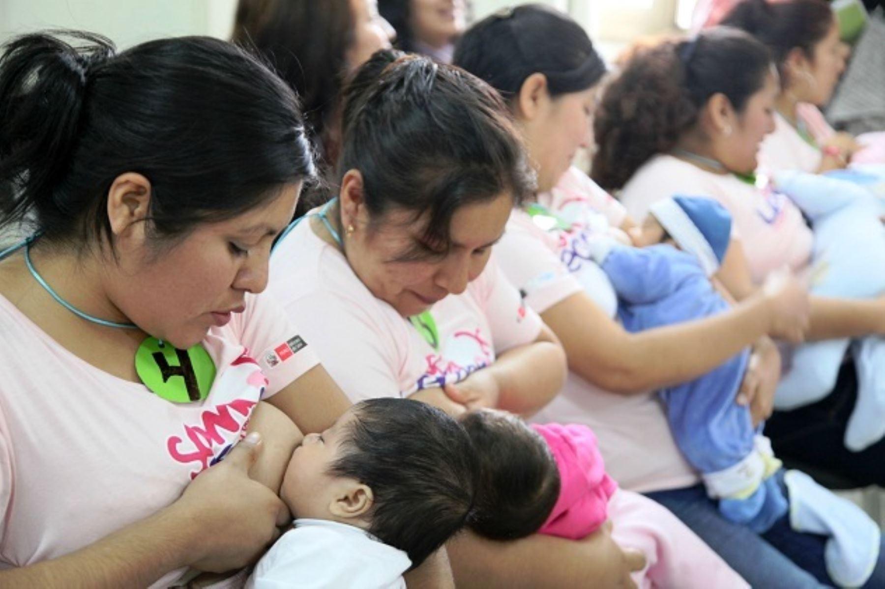 Personal de salud debe incentivar la lactancia materna exclusiva desde la gestación. Foto: ANDINA/Difusión.