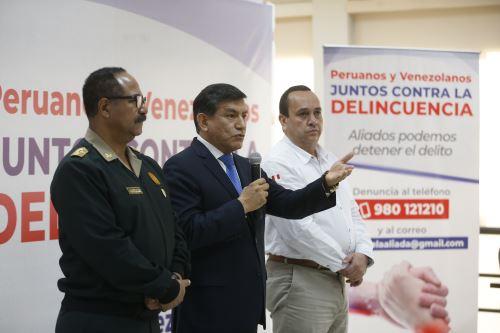 Mininter y Unión Venezolana acuerdan combatir la delincuencia en el Perú