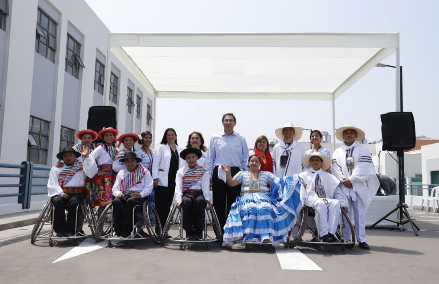 Presidente Martin Vizcarra inaugura la ampliación del Instituto Nacional de Rehabilitación en Chorrillos. Foto: ANDINA/Prensa Presidencia