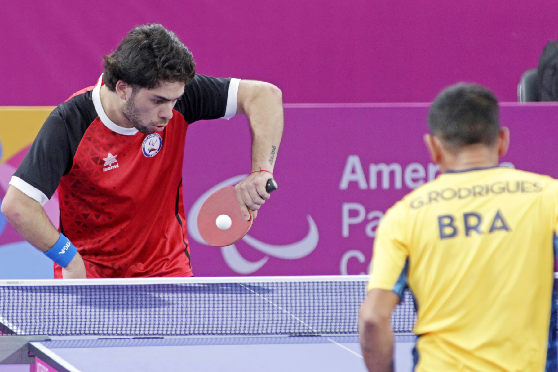 Juegos Parapanamericanos se iniciaron con intensos partidos de Para Tenis de Mesa.Foto:ANDINA/LIMA 2019