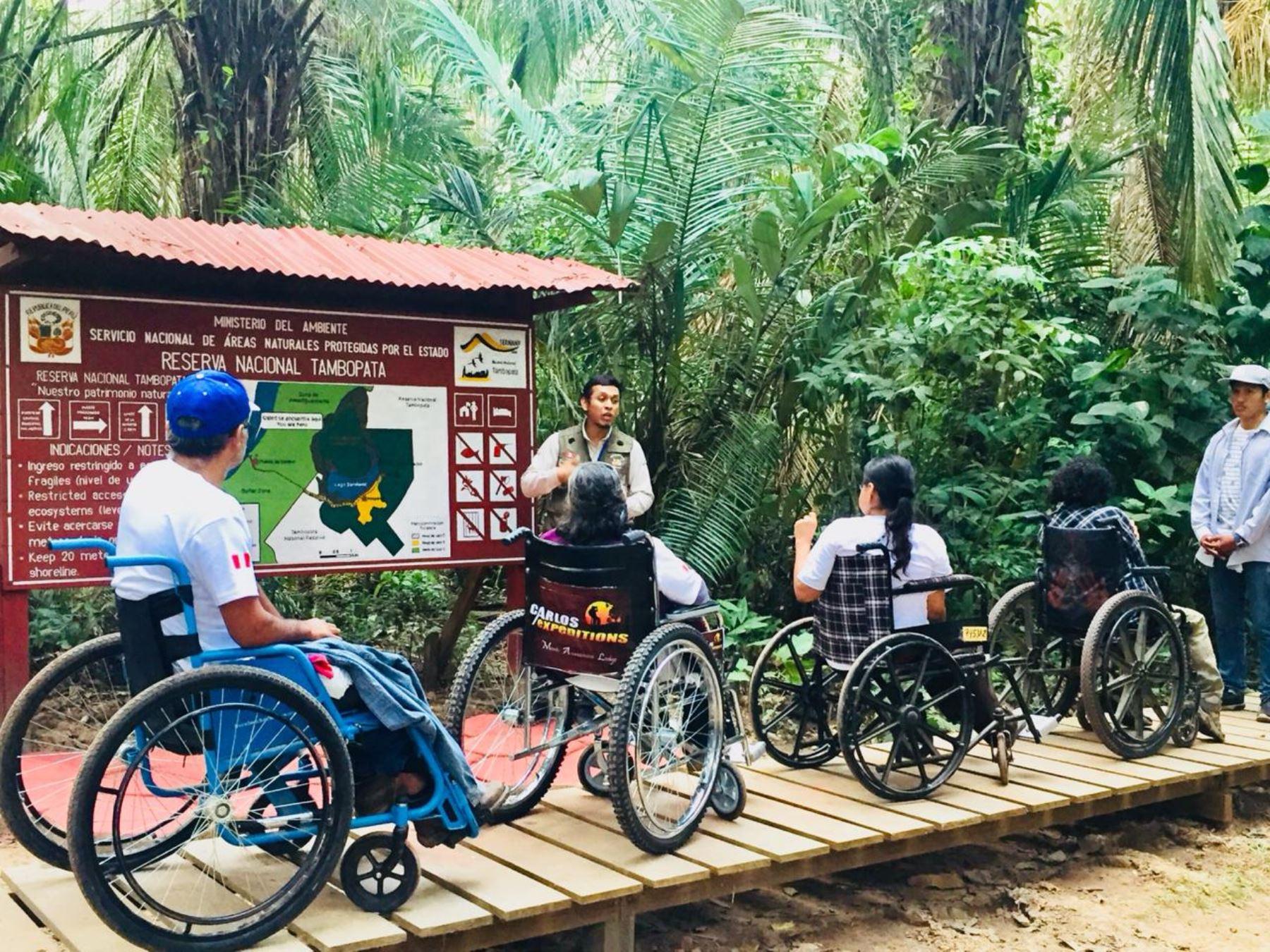 Sernanp innova con oferta de turismo inclusivo en Reserva Nacional Tambopata, en Madre de Dios. ANDINA/Difusión