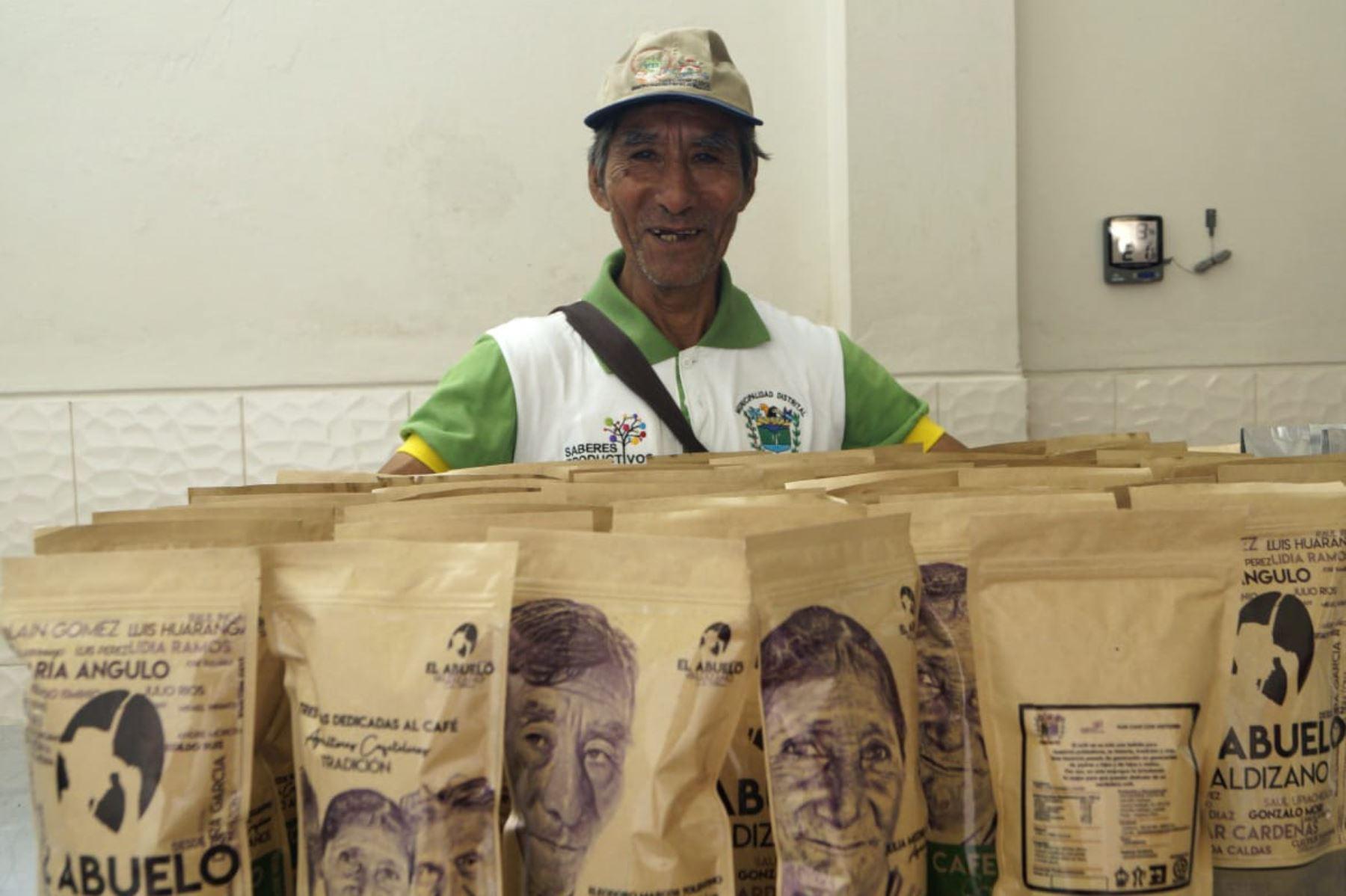 El café El Abuelo Valdizano es el proyecto productivo emprendido por adultos mayores del programa Pensión 65, del Ministerio de Desarrollo e Inclusión Social (Midis), en el distrito de Hermilio Valdizán, provincia huanuqueña de Leoncio Prado.