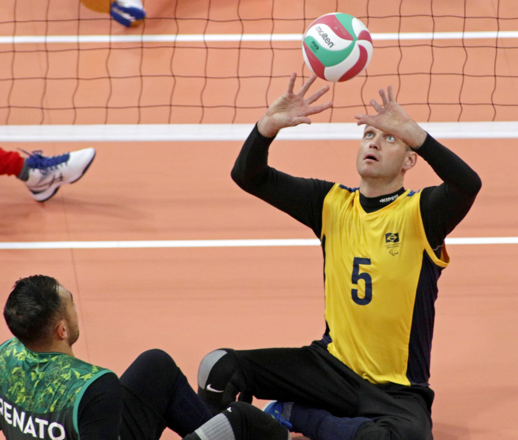 Perú y Brasil se enfrentan en Voleibol Sentado masculino por los Juegos Parapanamericanos. Foto: ANDINA/ Lima 2019