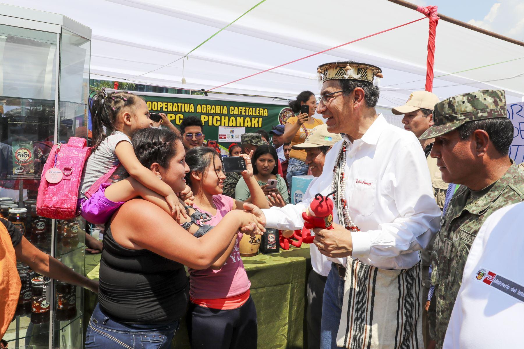 Presidente Vizcarra participa en 20° Festival Nacional del Café Pichanaqui 2019. Foto: ANDINA/Prensa Presidencia