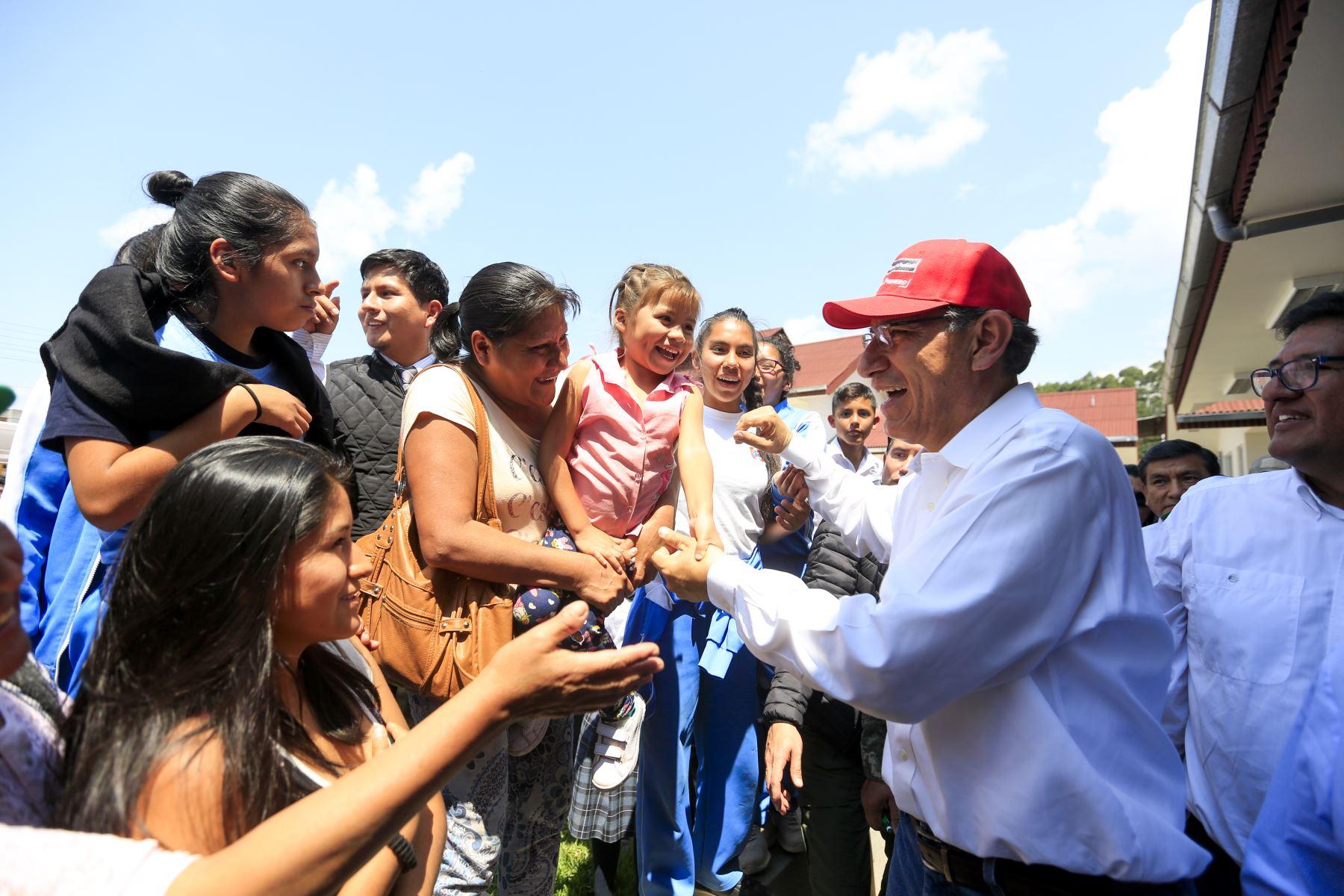 Presidente Vizcarra en la inauguración de CITE agroindustrial en Oxapampa. Foto: ANDINA/Prensa Presidencia