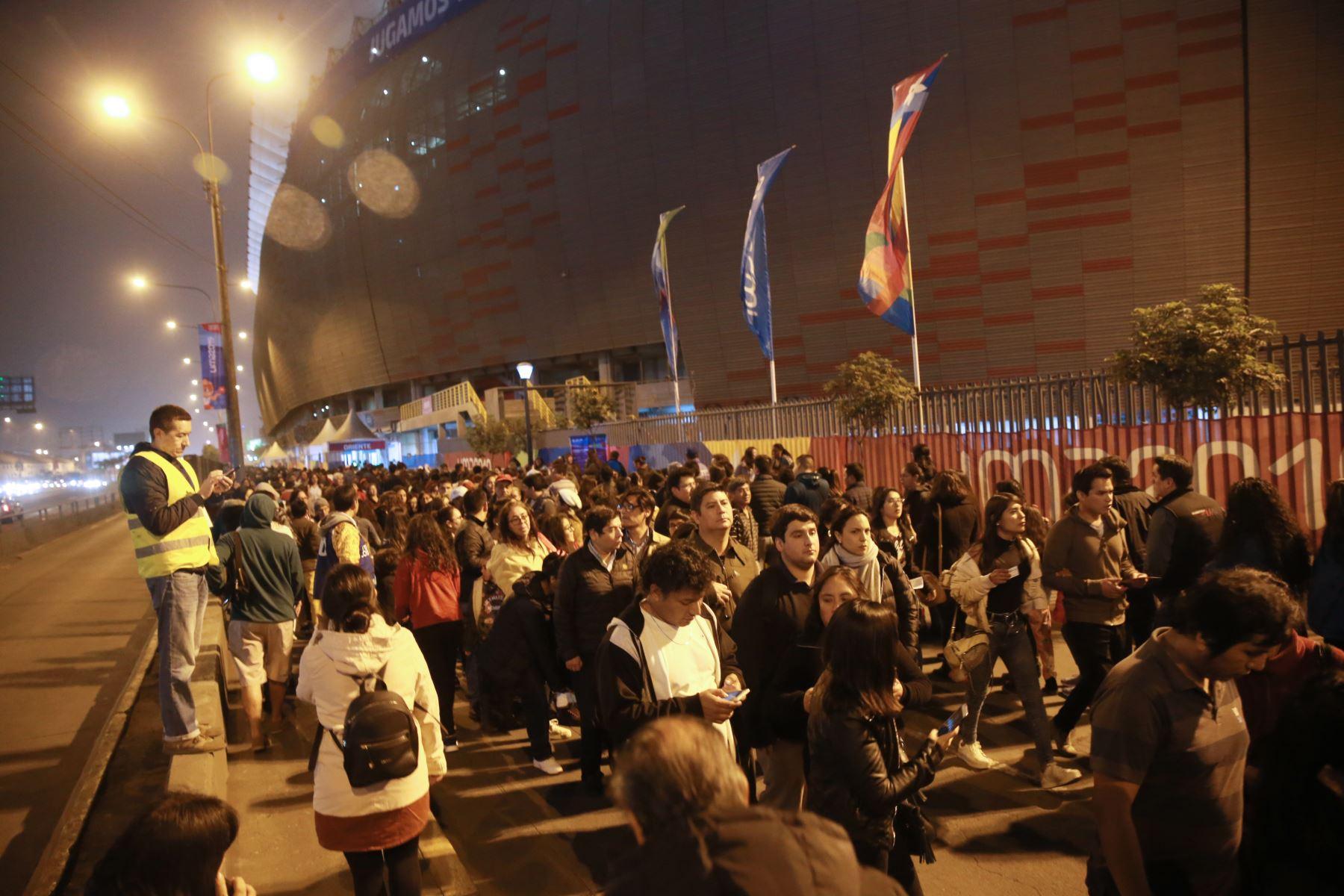 Masiva concurrencia para la inauguración de los Juegos Parapanamericanos Lima 2019. Foto: ANDINA/Jhony Laurente