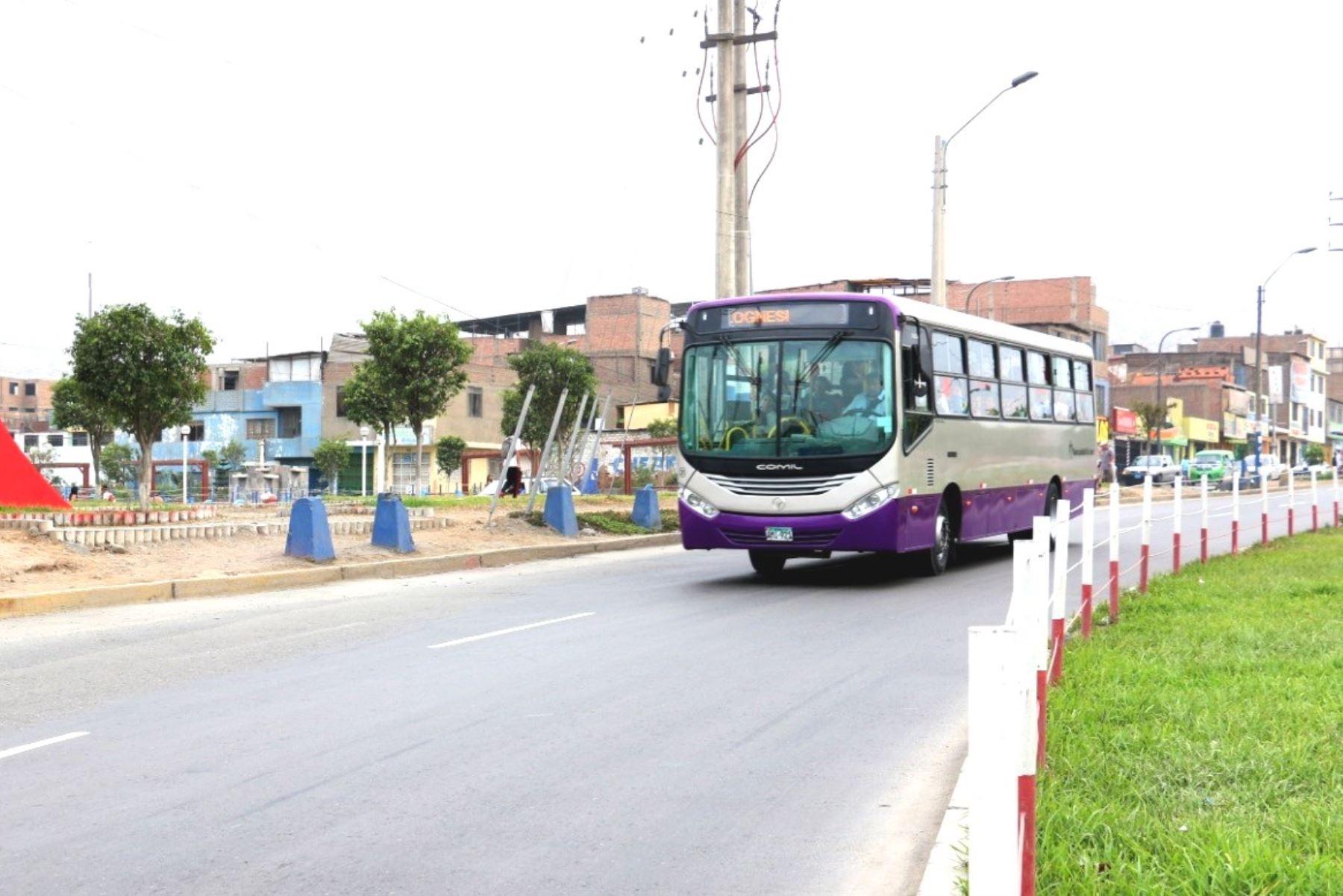 Vehículo del Corredor Morado (imagen referencial). Foto: ANDINA/Difusión