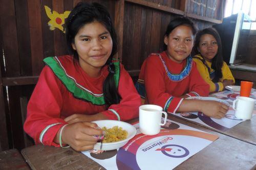 Qali Warma garantiza alimentación para estudiantes de secundaria de pueblos indígenas amazónicos. ANDINA/Difusión