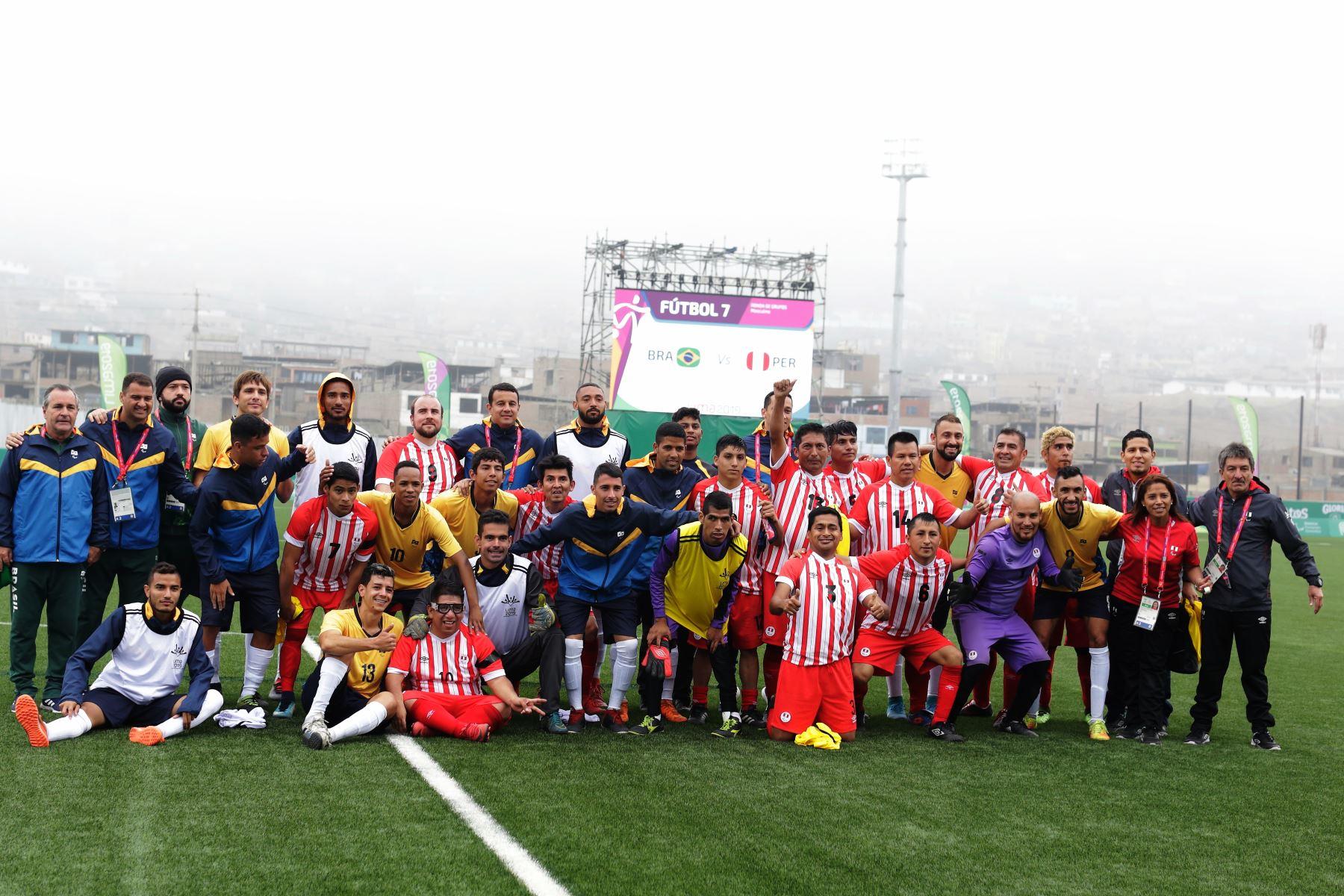 Perú se enfrenta a Brasil en Futbol 7 por los Juegos Parapanamericanos Lima 2019. Foto:Lima 2019