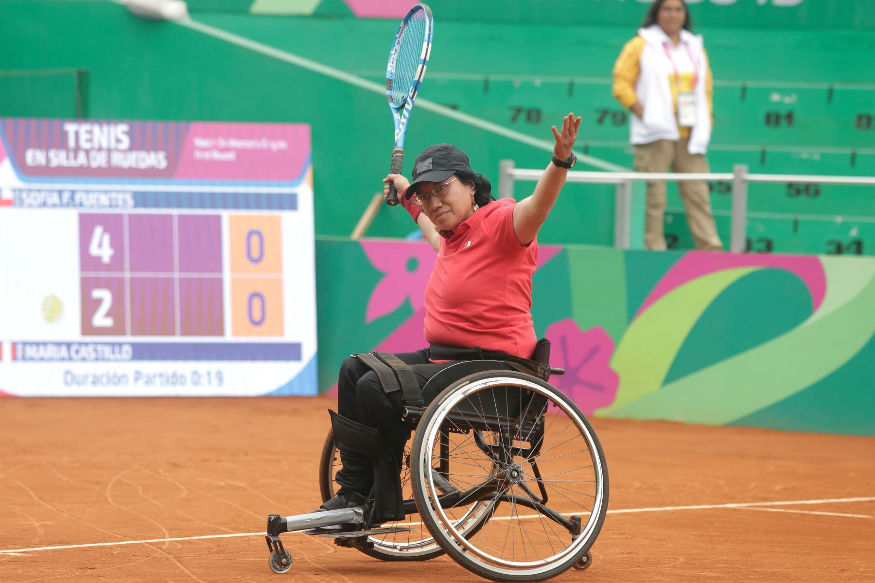 Peruana Maria Castillo gana en Tenis de silla de ruedas, en los Juegos Pararmaricanos Lima 2019. Foto:ANDINA/LIMA 2019