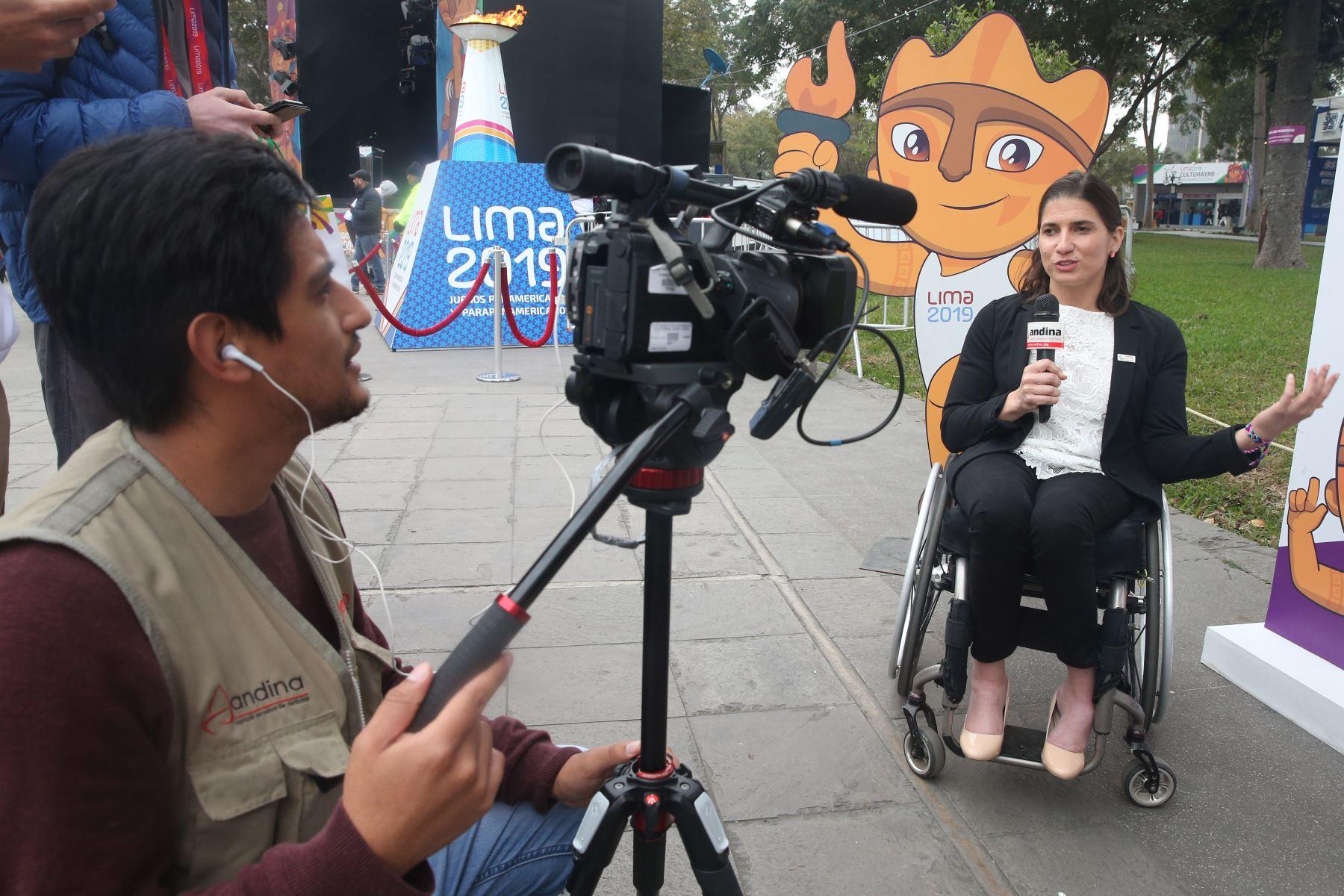 Ileana Rodríguez, Representante de Atletas del Comité Paralímpico de las Américas. Se reinicia el programa cultural Culturaymi Lima 2019, en el marco de los Juegos Parapanamericanos Lima 2019.  Foto: ANDINA/Eddy Ramos