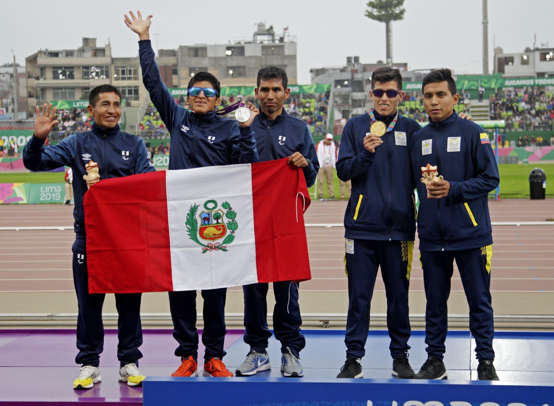 Luis Sandoval gano medalla de Plata en 5000 metros planos, en los Juegos Pararamericanos Lima 2019.Foto:ANDINA/ LIMA 2019