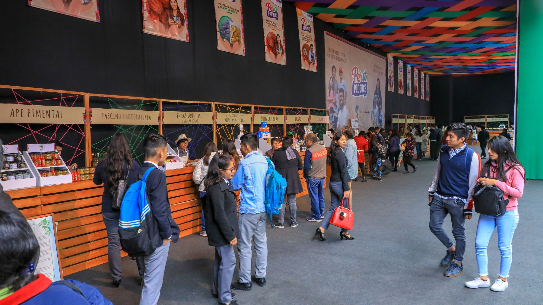"""Feria Perú Produce presenta a Mypes de 17 regiones que ofertan sus productos de agroindustria, manufactura y otros rubros, en la sede """"Culturaymi"""" de los Juegos Panamericanos y Parapanamericanos Lima 2019. Foto:ANDINA/ PRODUCE"""