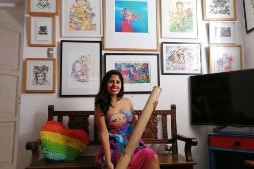 Artista plástica Lici Ramirez participa en el proyecto Susurradores del viento: El viaje de la palabra. Foto: ANDINA/Difusión