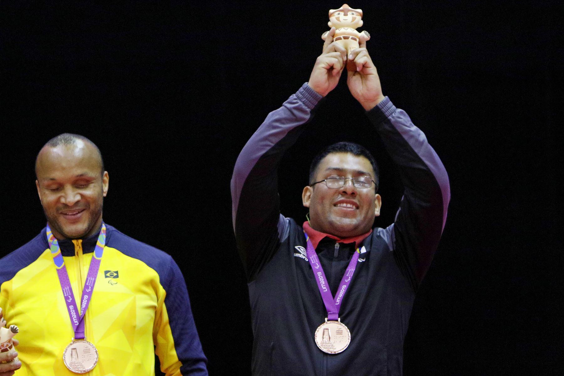 El paradeportista Antero Villalobos ganó la segunda medalla  de bronce para la delegación peruana en los Juegos Parapanamericanos Lima 2019. Foto.ANDINA/LIMA 2019