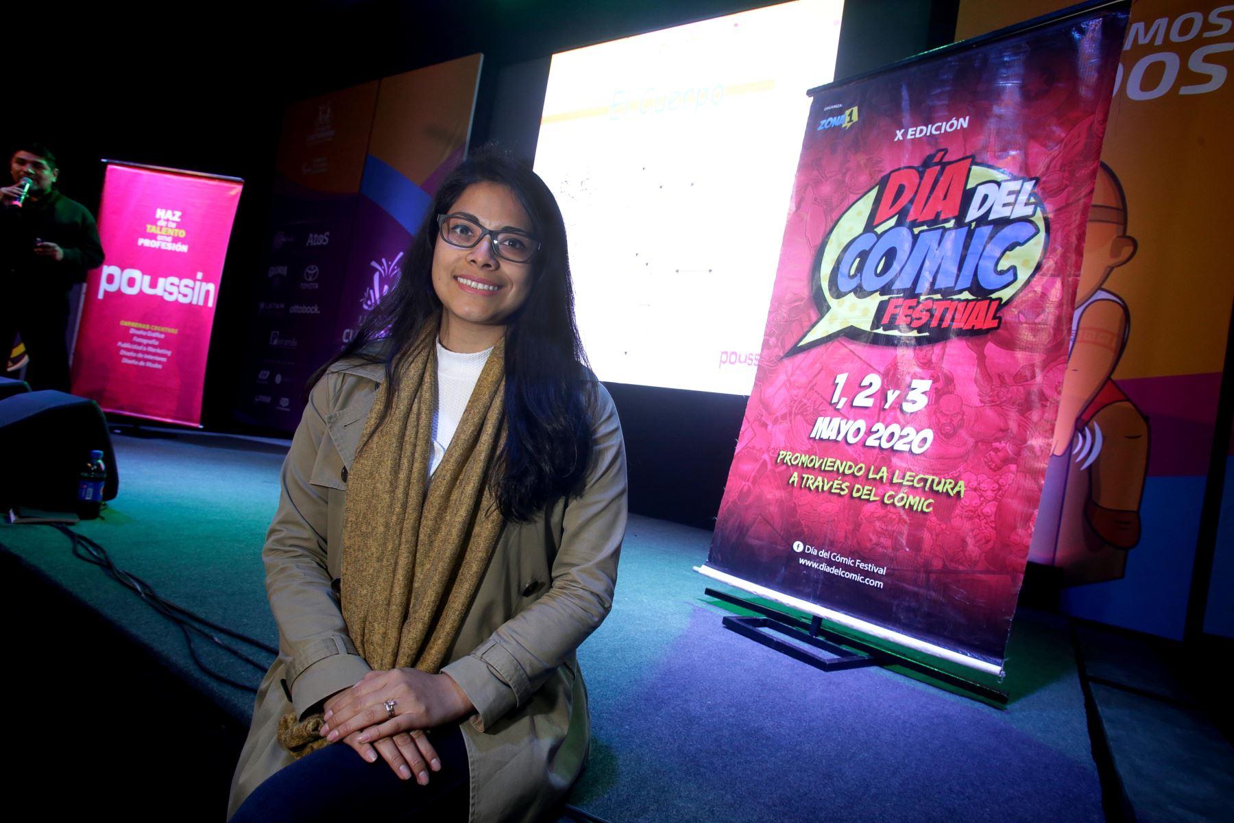"Niños y niñas  se inspiran en la mascota oficial de Lima 2019 ""Milco "" para crear Comics. Foto: Lima 2019"