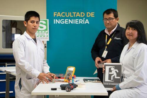 En UPN crean dispositivo para ayudar a personas con discapacidad visual a hallar zonas seguras en casos de emergencia. Foto: Andina/Difusión