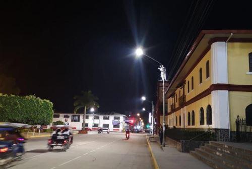 Iluminación pública tipo LED. Foto: Cortesía.