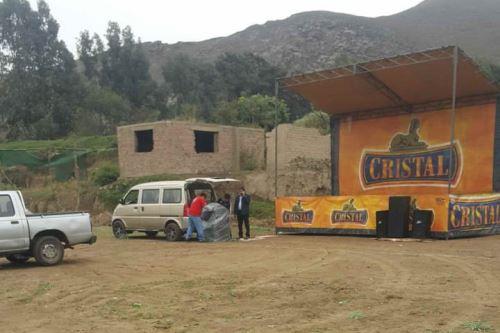 Detienen evento taurino programado en zona arqueológica El Paraíso. Foto: Andina/Difusión