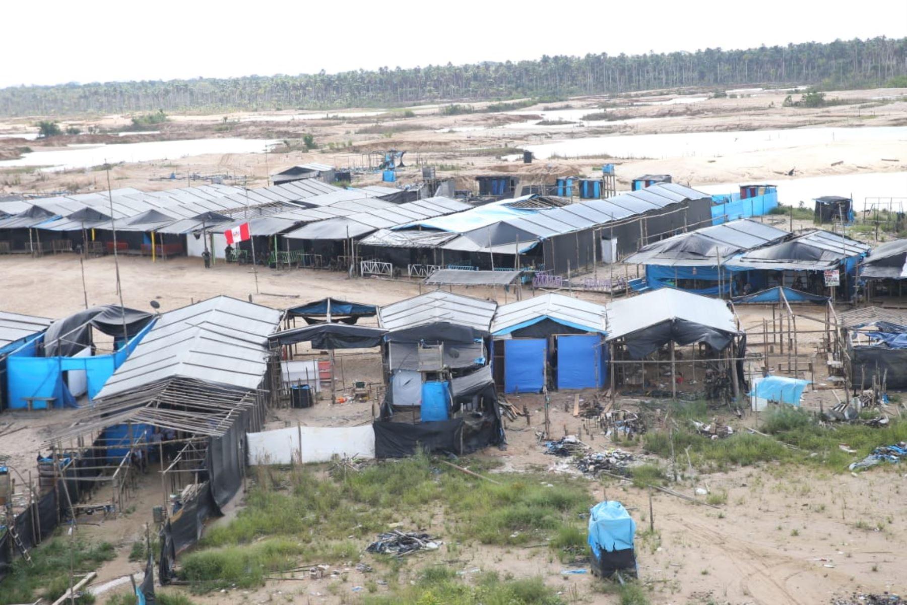 La Pampa, sector de Madre de Dios donde operan la minería ilegal y las mafias del crimen organizado. ANDINA/Jhony Laurente