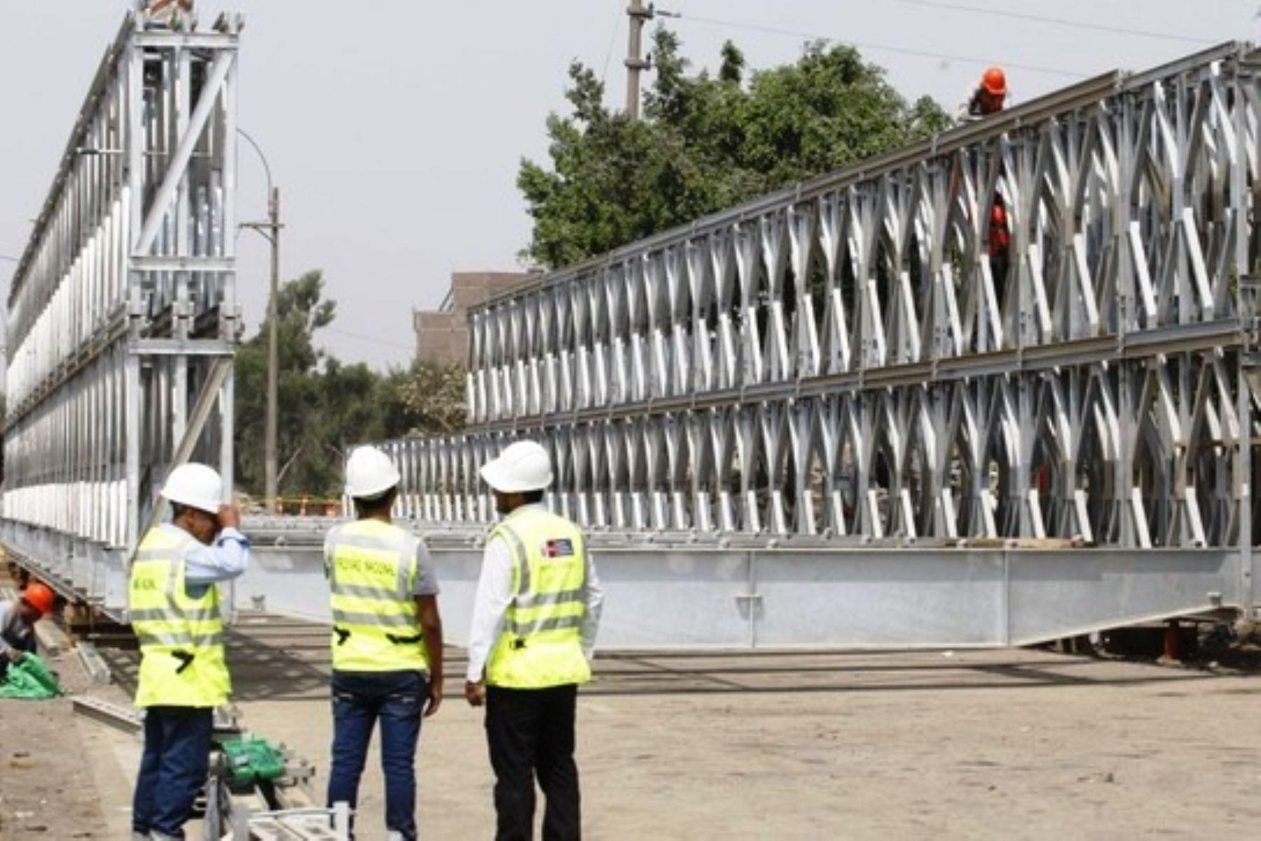 MTC dará asistencia técnica para mantenimiento de puentes modulares en Lima. Foto: ANDINA/Difusión.