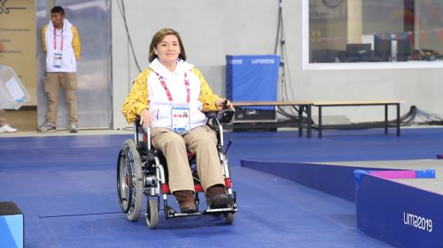 Liduvina Sánchez es una entusiasta voluntaria que desarrolla una labor encomiable en los Juegos de Lima 2019