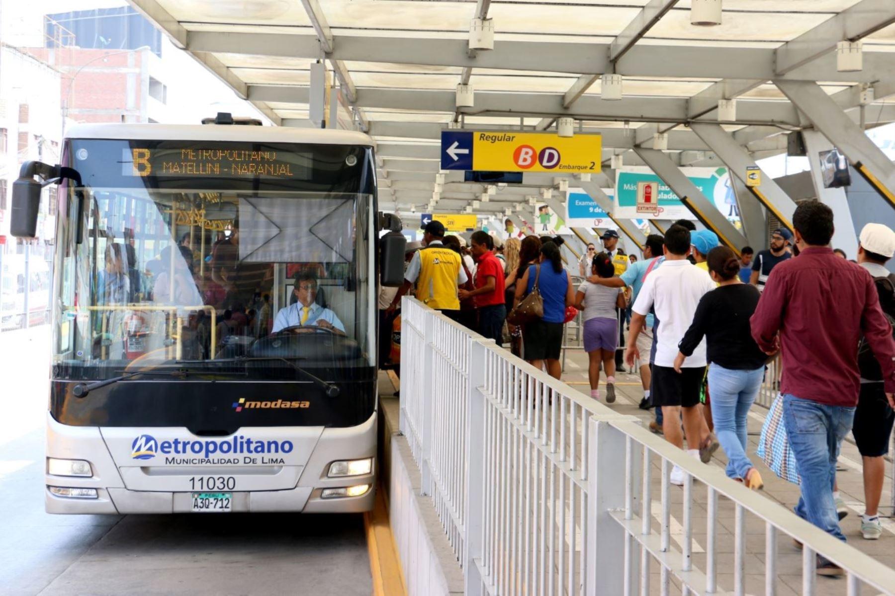 Metropolitano: este martes vence plazo de entrega de documentos para ampliación. Foto: ANDINA/Difusión.