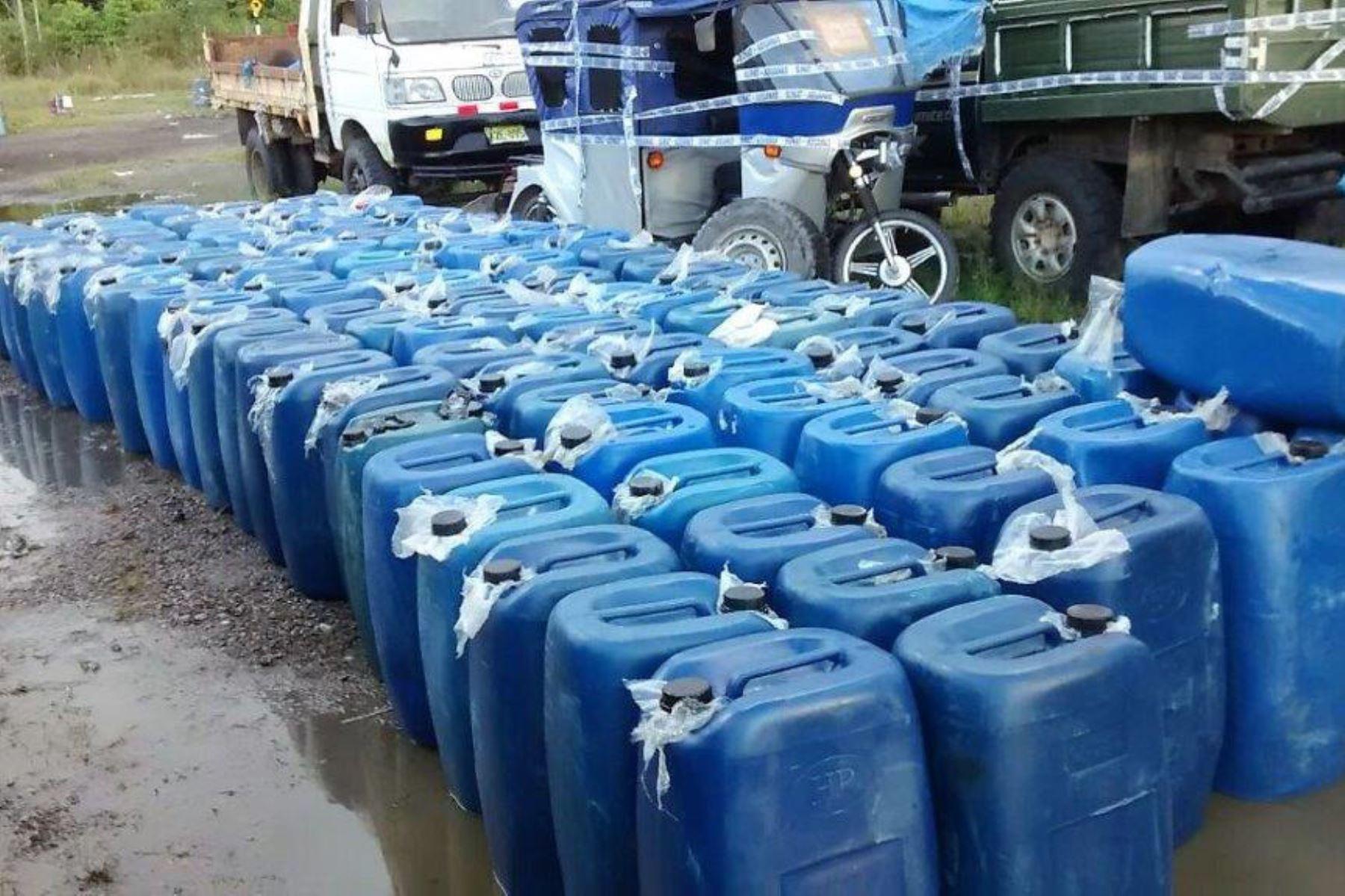 Sunat descubrió diversas formas de ocultar insumos químicos fiscalizados. Foto: Andina/Difusión