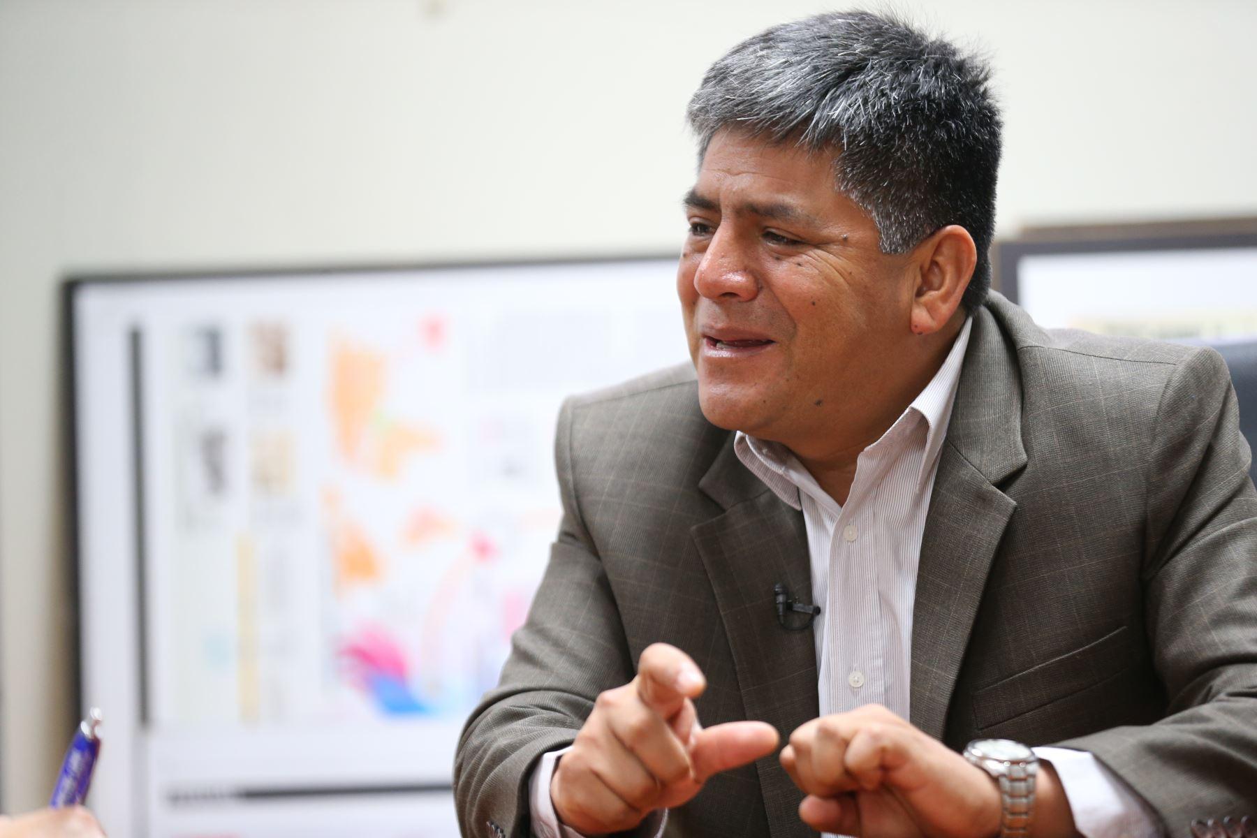Gobernador regional de Ayacucho, Carlos Rúa Carbajal. Foto: ANDINA/Carlos Lezama.