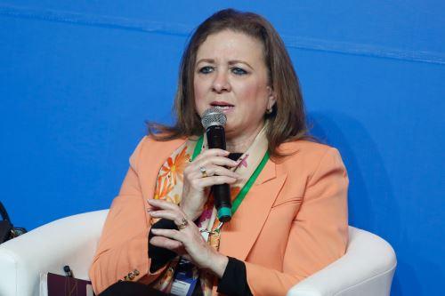 Presidenta de Confiep, María Isabel León. ANDINA/Renato Pajuelo