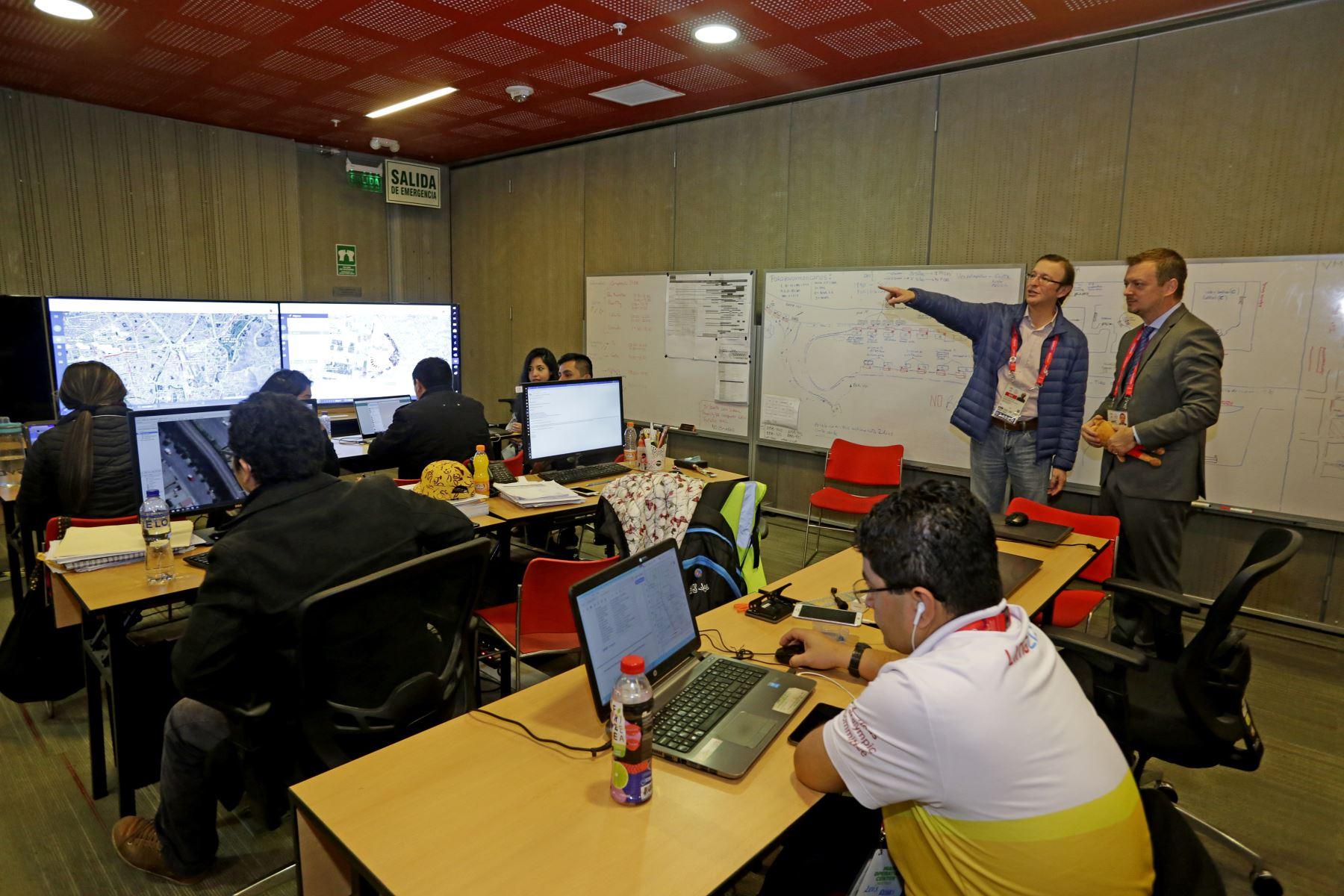 Centro de Operaciones Lima 2019. Foto: ANDINA/Difusión