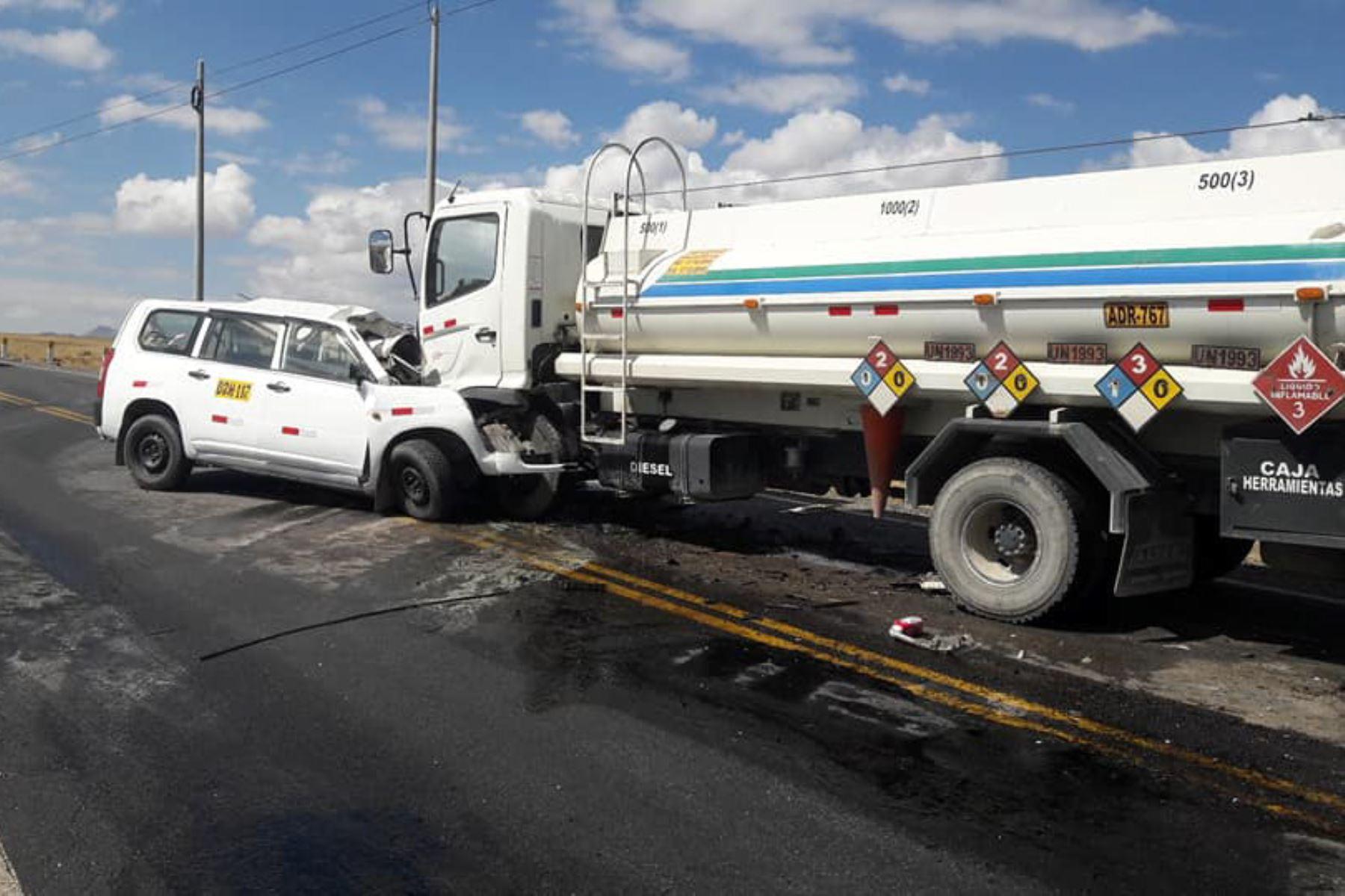 En el kilómetro 168 de la vía de penetración Patilvica-Huaraz, región Áncash, se registró un accidente que dejó dos muertos y dos heridos.