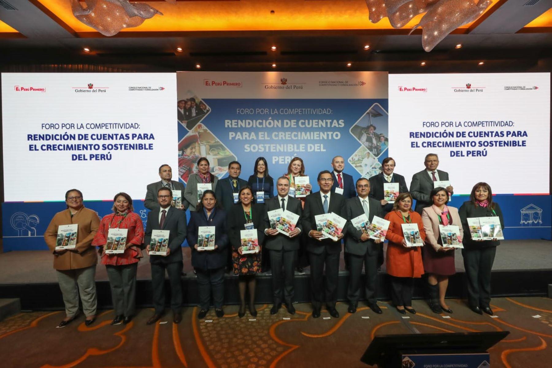 Presentación del Plan Nacional de Infraestructura y Competitividad. Foto: Cortesía.