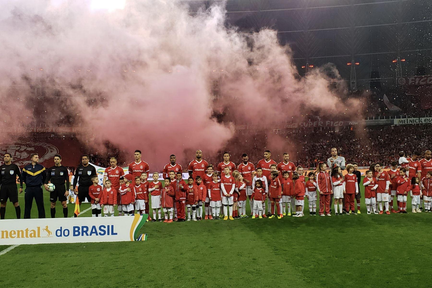 Con doblete de Paolo Guerrero, el Internacional FC ganó 3-0 al Cruzeiro en la semifinal de la Copa Brasileña.Foto:Internacional FC.