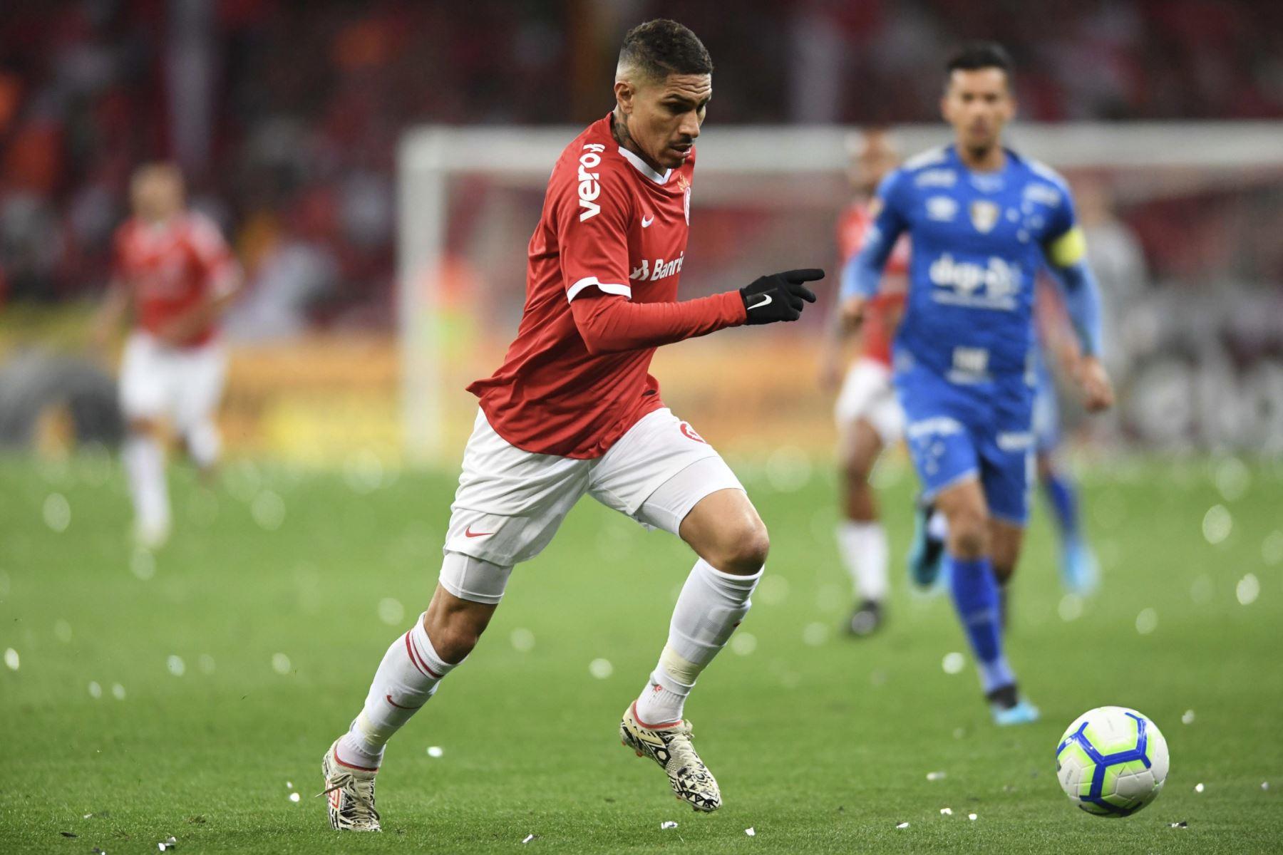 Con doblete de Paolo Guerrero, el Internacional FC ganó 3-0 al Cruzeiro en la semifinal de la Copa Brasileña. Foto:Internacional FC.