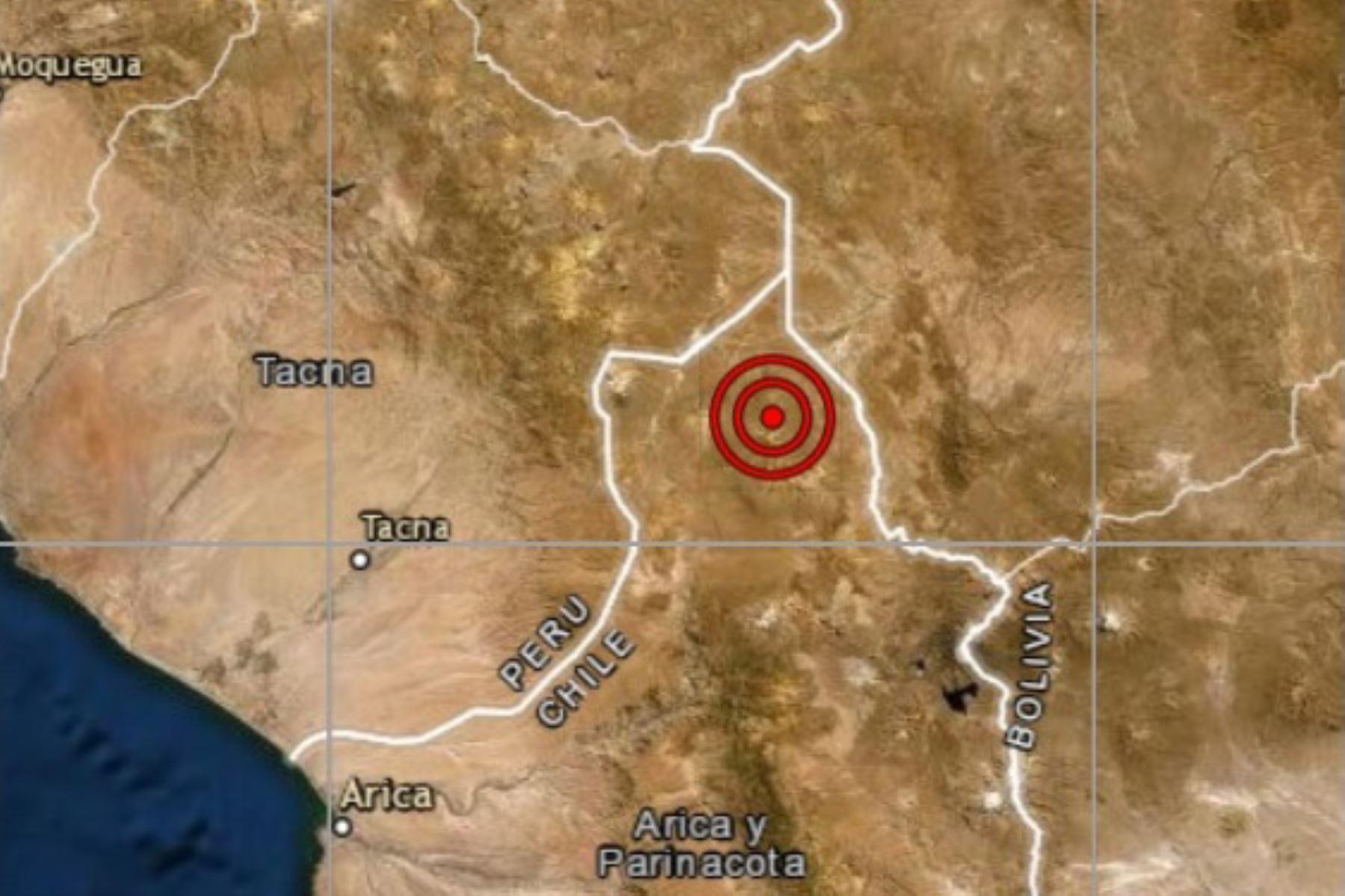 Tacna fue remecida por sismo de magnitud 4.5 esta mañana.