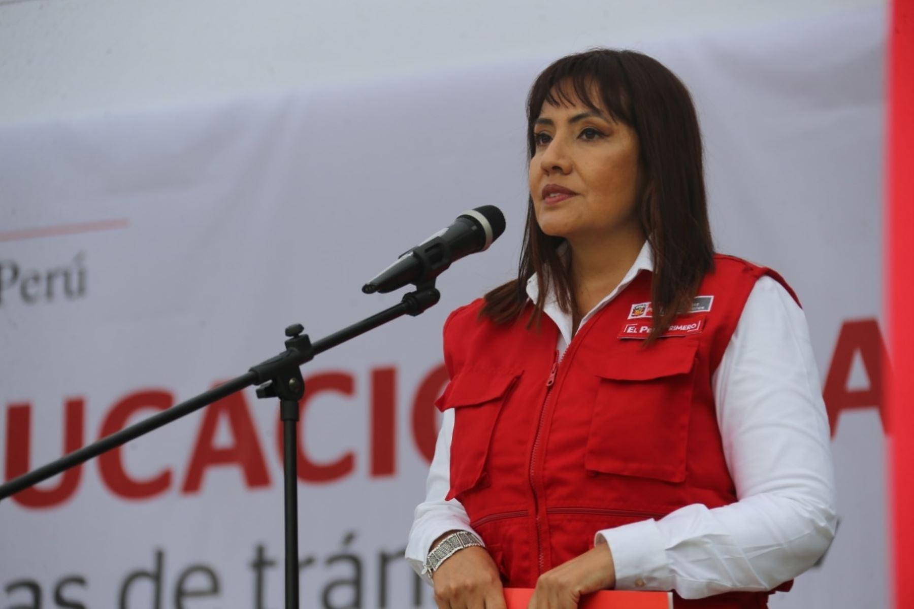 Ministra de Transportes y Comunicaciones, María Jara. Foto: Cortesía.