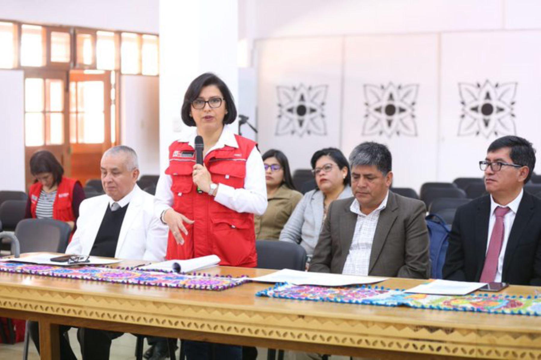 Ministra de Trabajo, Sylvia Cáceres, realiza visita de trabajo en Ayacucho. ANDINA/Difusión