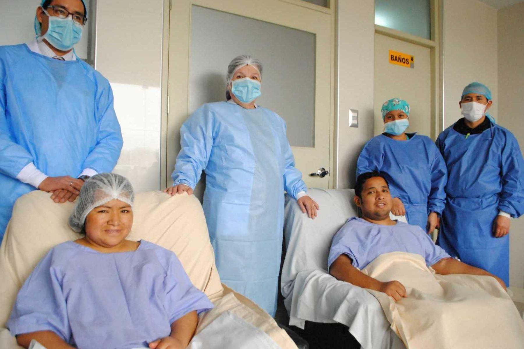 Hospital Cayetano Heredia realizó dos trasplantes de riñón simultáneos. Foto: ANDINA/Difusión.