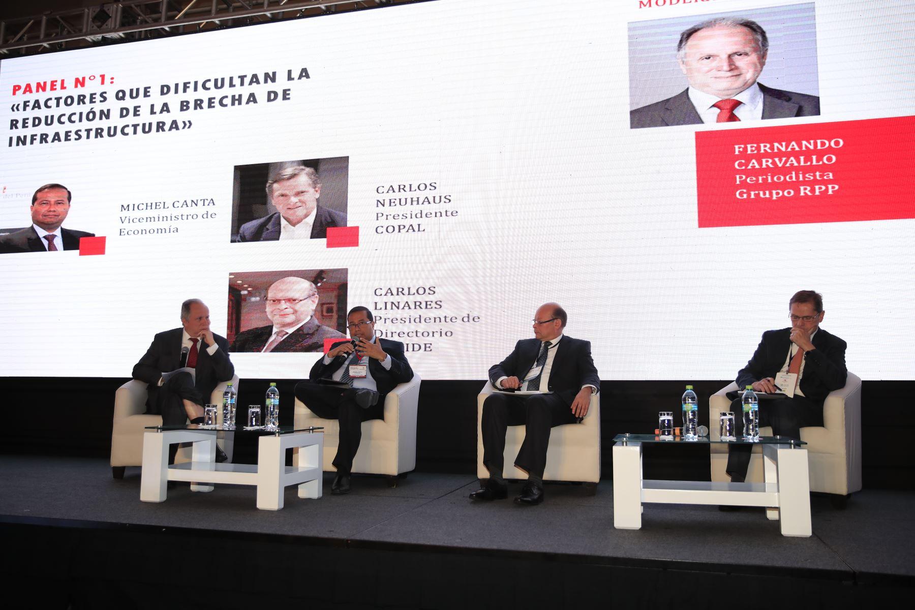 Michel Canta, viceministro de Economía durante su exposición en el foro: Perú CEO Impact Summit        Agencia Andina/Juan Carlos Guzman Negrini