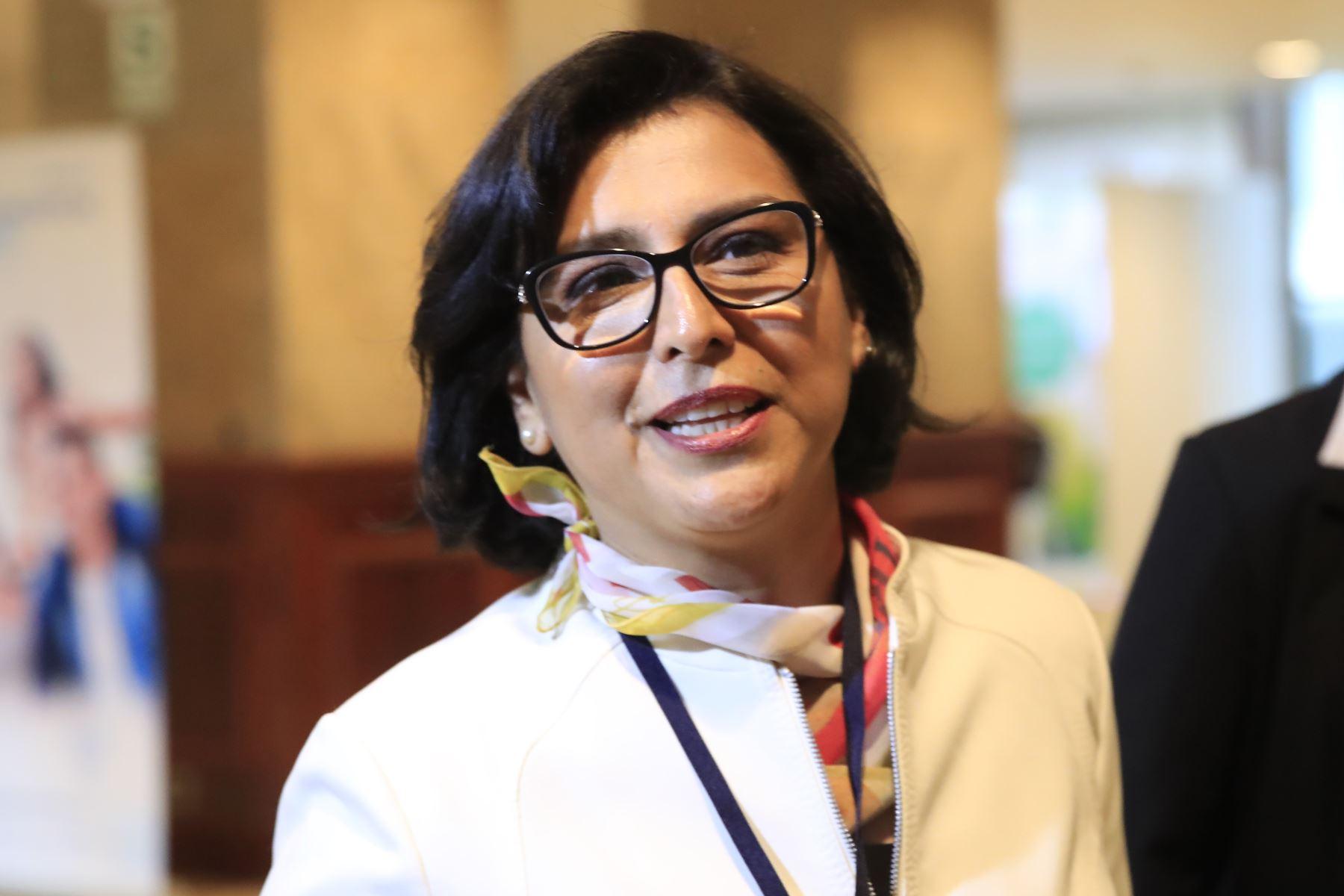 Ministra de Trabajo y Promoción del Empleo, Sylvia Cáceres. Foto: ANDINA/Juan Carlos Guzmán.