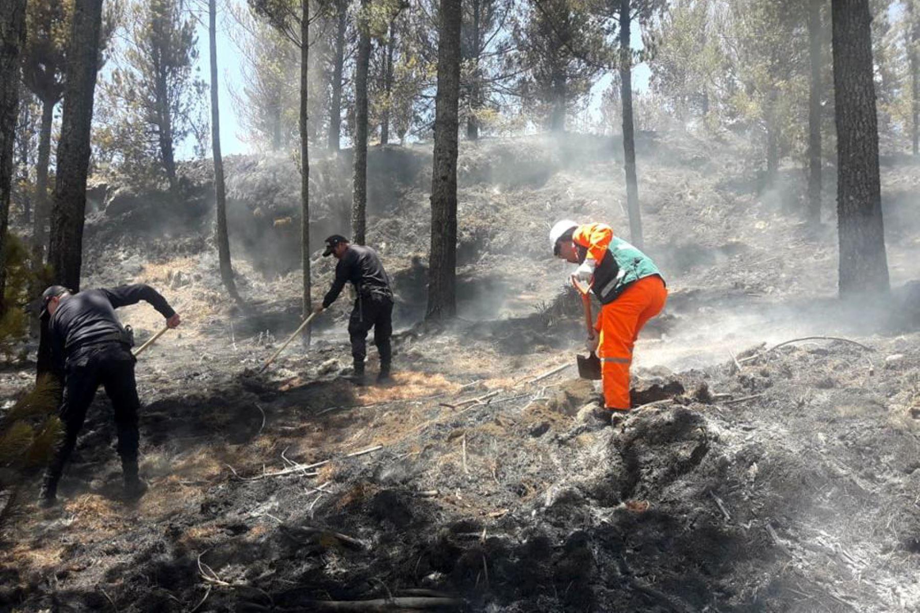 Personal del Cuerpo General de Bomberos Voluntarios del Perú, autoridades locales y pobladores de la zona lograron extinguir dos incendios forestales iniciados en horas de la mañana del 13 de setiembre, en los distritos de Cusipata y San Pablo, en las provincias cusqueñas  de Quispicanchi y Canchis.ANDINA/Difusión